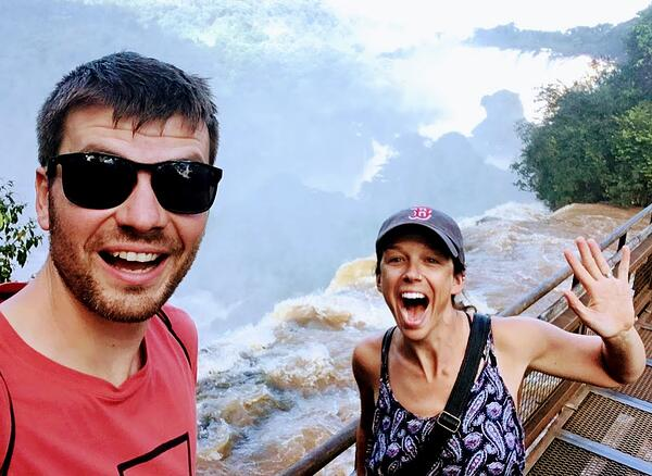 Fun at Iguazu Falls